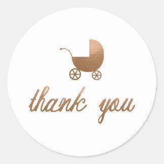 BABY SHOWER THANK YOU STICKER'S
