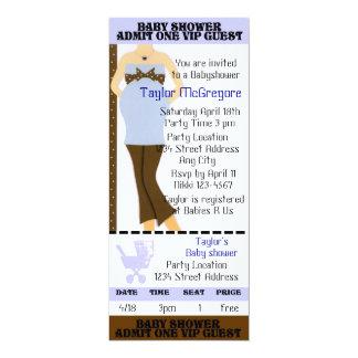 Baby shower ticket invite