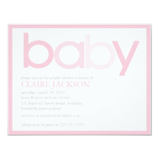 Baby Shower (Today's Best Award) 4.25x5.5 Paper Invitation Card