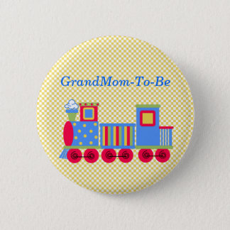 Baby Shower Train Grandmother Pin Button
