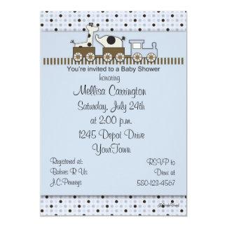 "Baby Shower Train Invitation 5"" X 7"" Invitation Card"