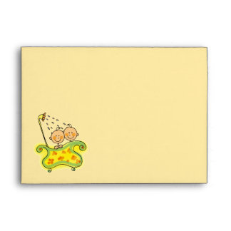 Baby shower twins envelopes