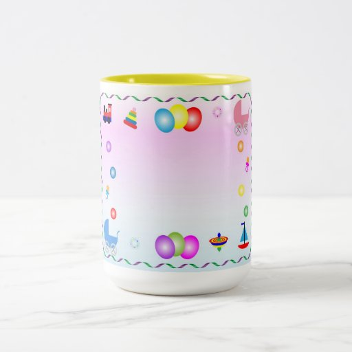 Baby Shower Two-Tone Coffee Mug