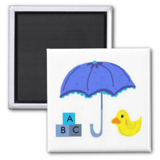Baby Shower Umbrella and Duck Magnet