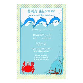 Baby Shower Under the Sea Oh Joy A Baby Boy Flyer