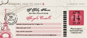 Baby on board invitations zazzle baby shower vintage paris boarding pass invitation filmwisefo