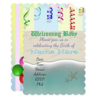 Baby Shower Welcome Personalize Destiny Destiny'S Card