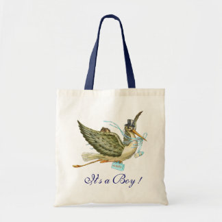 """BABY SHOWER ,White Blue """" It's a Boy"""" Tote Bag"""