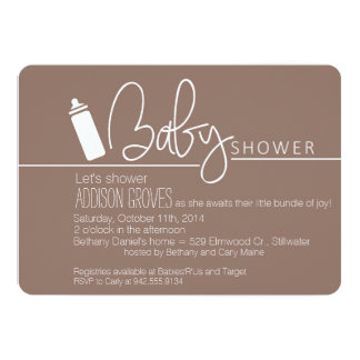 Baby Shower with Bottle in Tow Card