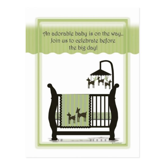 Baby Shower with Deer Invitation Postcard