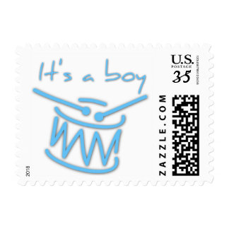 Baby Shower with Drums It's a Boy - Postage