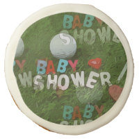 Baby Shower with golf ball Sugar Cookie