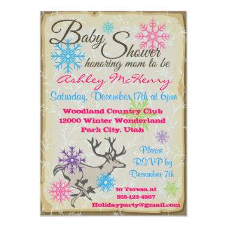 Baby Shower Woodland Reindeer Invitations