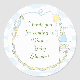 "Baby Shower Yellow/Castle Stickers 1 1/2"" or 3"""