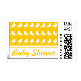 Baby shower yellow duck postage