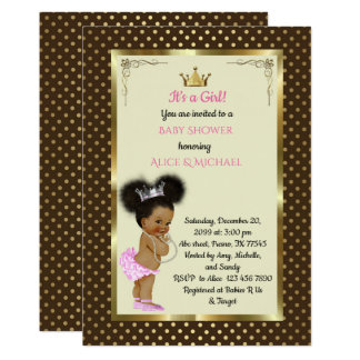 Baby ShowerGirl etnic, Princess Girl African,trend Card
