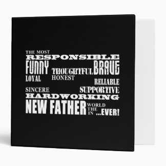 Baby Showers New Fathers Dads & Daddys : Qualities 3 Ring Binder