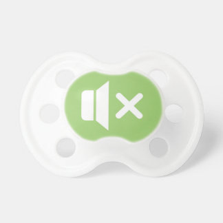 Baby silencer (Gender neutral: Baby green) Pacifier