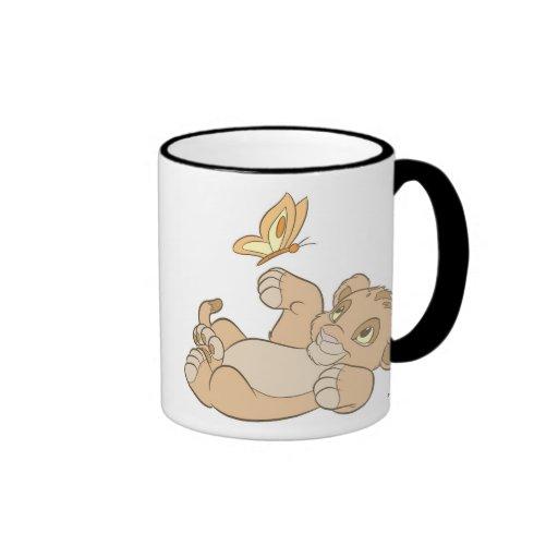 Baby Simba Playing Disney del león de rey Taza De Café
