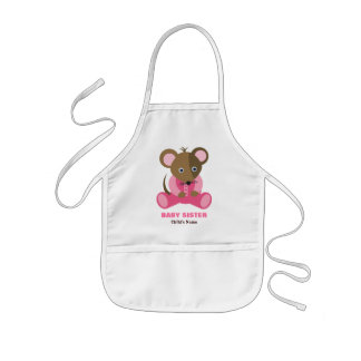 Baby Sister Baby Mouse in Pink Sleeper Kids' Apron