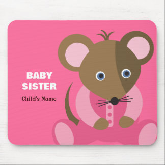 Baby Sister Baby Mouse in Pink Sleeper Mouse Pad