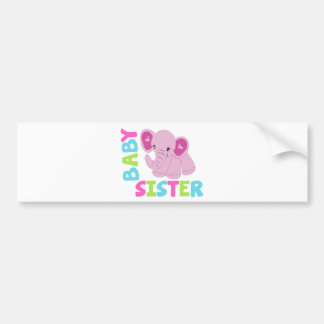 Baby Sister Elephant Car Bumper Sticker