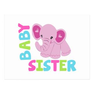 Baby Sister Elephant Postcard