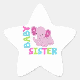 Baby Sister Elephant Star Sticker