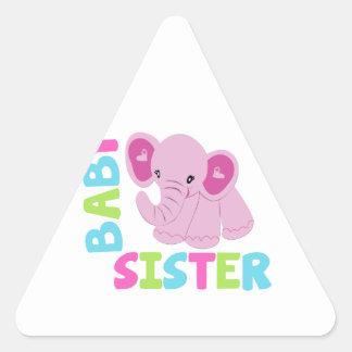 Baby Sister Elephant Triangle Sticker