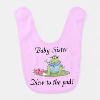 Baby Sister New to the Pad Bib