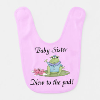 Baby Sister New to the Pad Bib