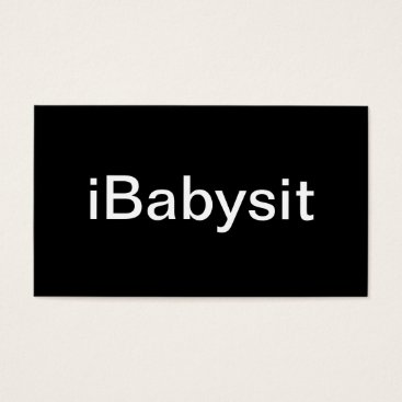 Professional Business Baby Sitter Business Card