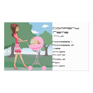 Baby Sitter, Nanny Double-Sided Standard Business Cards (Pack Of 100)