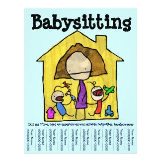 Baby Sitter Tear Sheet Flyer