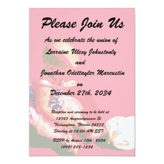 baby sitting and playing pink easter posterized co personalized invites