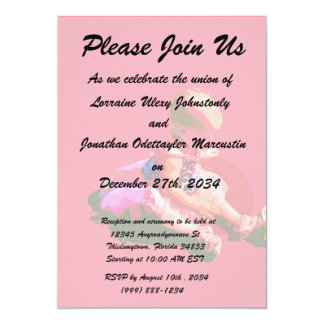 baby sitting and playing pink easter posterized co personalized announcements