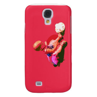 baby sitting and playing pink easter posterized co samsung galaxy s4 cover