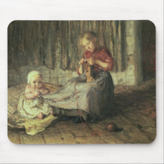 Baby sitting mouse pad