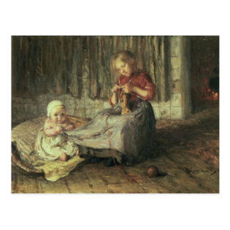 Baby sitting postcard