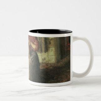 Baby sitting Two-Tone coffee mug