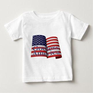 "Baby-sized ""Godless America"" flag shirt"