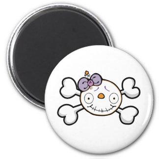 BABY SKELETON Skull and Crossbones 2 Inch Round Magnet
