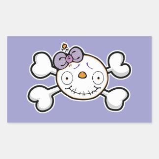 BABY SKELETON Skull and Crossbones Rectangular Sticker