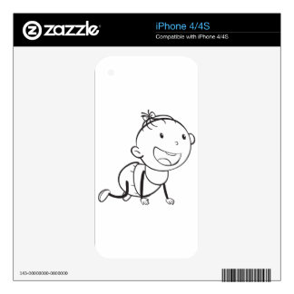 baby sketch iPhone 4S skin