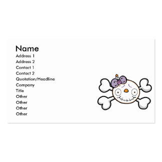 baby skull and crossbones business card