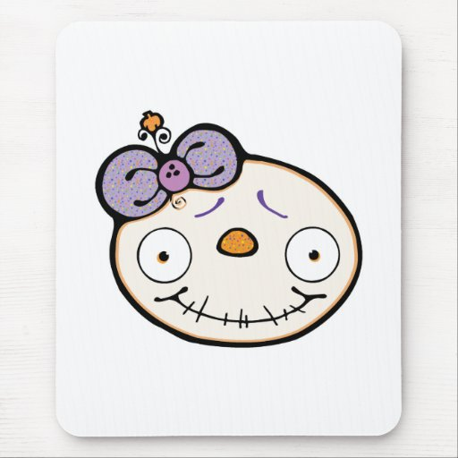 baby skully skull mouse mat