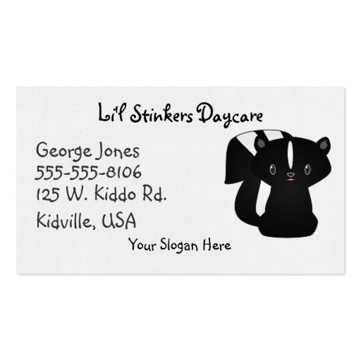 Baby Skunk Business Card Template