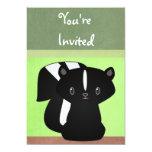 "Baby Skunk Invitation 5"" X 7"" Invitation Card"