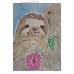 baby sloth card