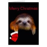 Baby Sloth Christmas Card